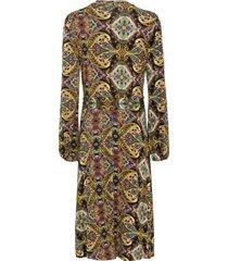 jersey jurk met paisleyprint, lange mouw