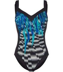 baddräkt sunflair svart::blå::vit