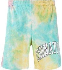 chinatown market tie-dye-print track shorts - blue