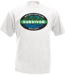 survivor tv series men's t-shirt tee many colors