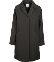 aspesi concealed front coat