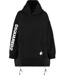dsquared2 logo print hoodie dress