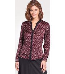 blouse mona rood::zwart::roze::grijs