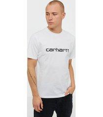 carhartt wip s/s script t-shirt t-shirts & linnen black/white