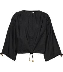breeze cotton blouse lange mouwen zwart rodebjer