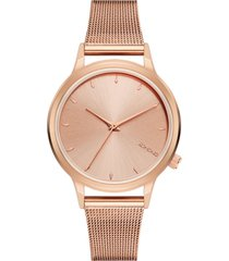 reloj analogo lexi royale rose gold komono