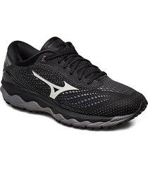 wave sky 3 w shoes sport shoes running shoes svart mizuno