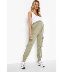 zwangerschap cargo broek met elastische taille, khaki