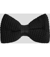 reiss dexter - knitted silk bow tie in black, mens