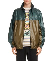 men's eye/loewe/nature colorblock ripstop jacket