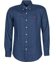 overhemd lange mouw polo ralph lauren chemise ajustee en lin col boutonne logo pony player