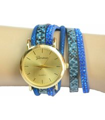 reloj sasmon pulsera azul re-97033