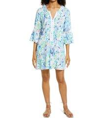 women's lilly pulitzer hollie print tunic dress, size x-small - white