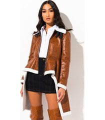 akira ride or die vegan leather teddy jacket
