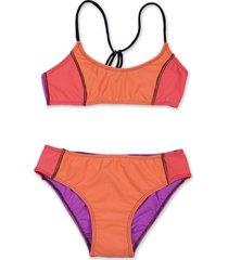 bikini naranja caracolores
