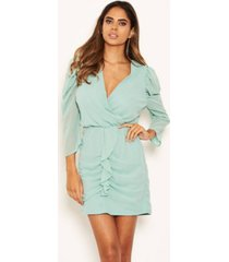 ax paris women's chiffon frill front dress