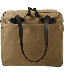 men's filson rugged twill zip tote bag - brown