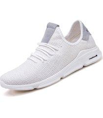 sneakers da corsa sportive leggere traspiranti in tessuto leggero da uomo