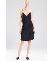 key essentials slip dress pajamas, women's, black, 100% silk, size xs, josie natori