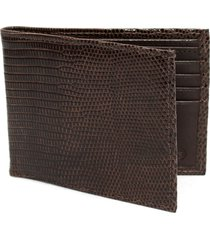 men's torino genuine lizard wallet - metallic