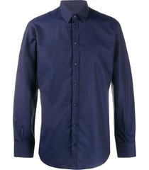 dolce & gabbana diamond check shirt - blue