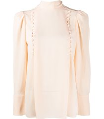 givenchy decorative buttoned blouse - orange