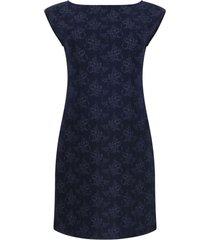 vestido estampado color azul, talla xs