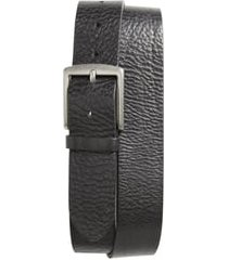 men's frye pebbled leather belt, size 38 - black