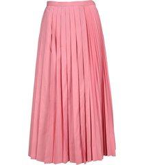 valentino micro faille pleated skirt.