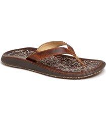 women's olukai 'paniolo' thong sandal, size 8 m - beige