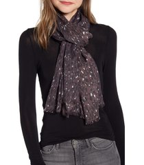 women's allsaints spotty leopard scarf, size one size - purple