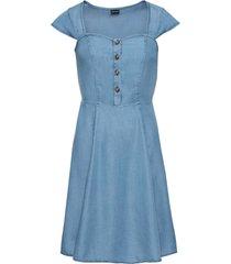 abito in tencel con bottoni (blu) - bodyflirt