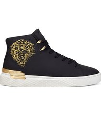 hoge sneakers ed hardy - new beast hi top black/gold