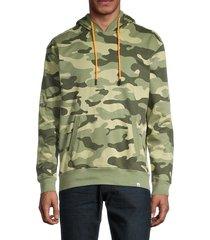 sovereign code men's cotton camo hoodie - camo - size l