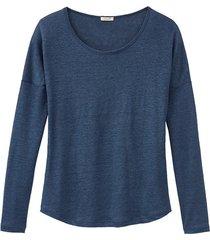 shirt met lange mouwen, indigo 44/46