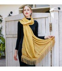 uacy 185cm * 90cm sciarpa sottile estiva con frange sciarpa skinny sciarpa traspirante in cotone con nappa