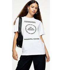 2nd life motif t-shirt in white - white