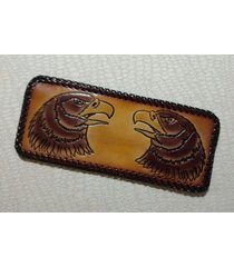 eagle - bifold usa made leather laced wallet