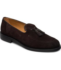 almon slip-on shoes loafers låga skor brun gant