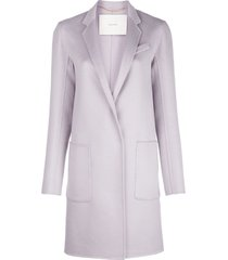 adam lippes zibelline cashmere car coat - purple