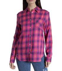 blusa mujer clara viscosa rosa rockford