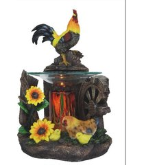 rooster oil/tart warmer - compatible with scentsy and yankee candle wax