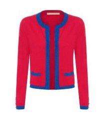 casaqueto feminino olympia - vermelho