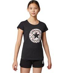 converse camiseta de manga corta berry print chuck taylor patch black