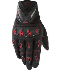 guantes moto scoyco con protección nudillos anti deslizantes color rojo talla xl