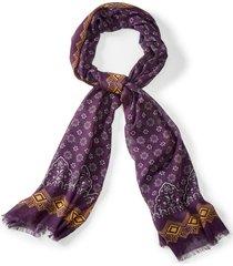 patterned cotton/modal scarf