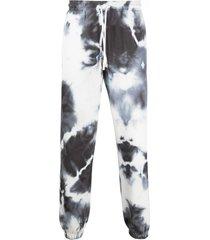 marcelo burlon county of milan tie-dye track trousers - white