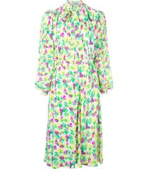 jean louis scherrer pre-owned floral print dress - yellow