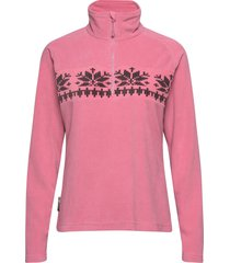 hildastranda microfleece half-zip sweat-shirts & hoodies fleeces & midlayers rosa skogstad