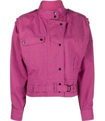 isabel marant étoile belted crop jacket - pink